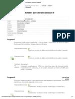 Administração de Banco de Dados Questionário Unidade II
