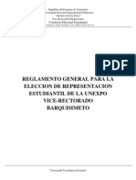 Reglamento General Eleccion Cee Unexpo 2014
