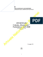 Inventar Pachetele Nr. 1019-1040