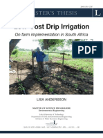 ANDERSSON 2005 Low Cost Drip Irrigation on Farm Implantation in South Africa