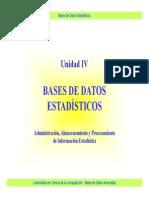 Base de datos estadísticos