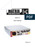 Matrix k Manual-En