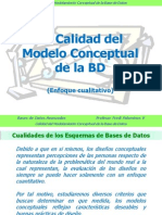 La Calidad del Modelo Conceptual de la Base de Datos (Enfoque cualitativo)