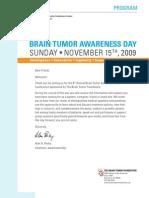 Brain Tumor Awareness Day Program - November 15, 2009