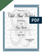 bunda child abuse workshop certificate 1