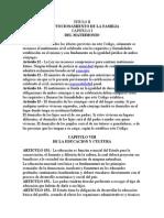Funciones de La Familia Segun La Constitucion de Honduras