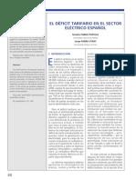 ENERGIA El Deficit Tarifarios en El Sector Electrico Español