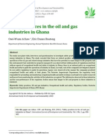 Safety Practices in the Oil, Gas and Related Industries in Ghana