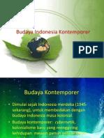 Budaya Indonesia Kontemporer
