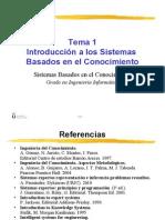 Introducción a los Sistemas Basados en el Conocimiento
