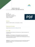 Consulta Popular La Pampa