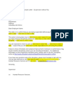 Discipline Letter Suspension