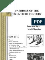 twentieth century`s fashions