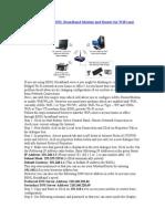 Configure BSNL Broadband Modem