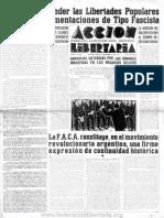 Acción Libertaria, Nº 39. Noviembre1940