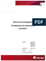 Informe Instalaciones de Extincion de Incendios Planes de Emergencia