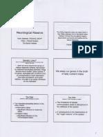 Neurological Reserve - Kevin Spelman