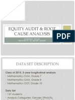 equity audit  root cause analysis