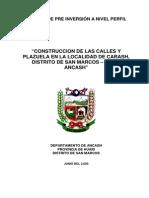 Perfil Plazuela y Calles Carash