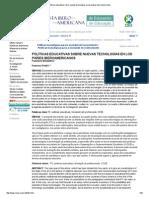 Políticas Educativas Sobre Nuevas Tecnologías en Los Países Iberoamericanos