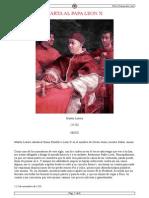 Carta Al Papa Leon X_ Martín Lutero