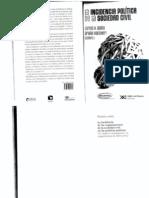 Carlos Acuña - La Incidencia Politica de La Sociedad Civil. Cap 1 y 2