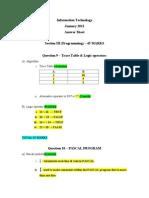 Information Technology-JAN2012(PAPER 2)-Solution -QU 9 - 12