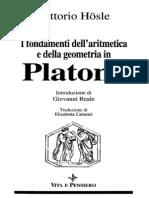 Hosle - Fondamenti Matematica in Platone