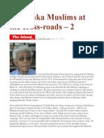 Sri Lanka Muslims at the Cross-roads – 2