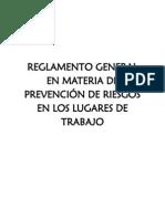 Reglamento de Riezgos Ministerio de Trabajo