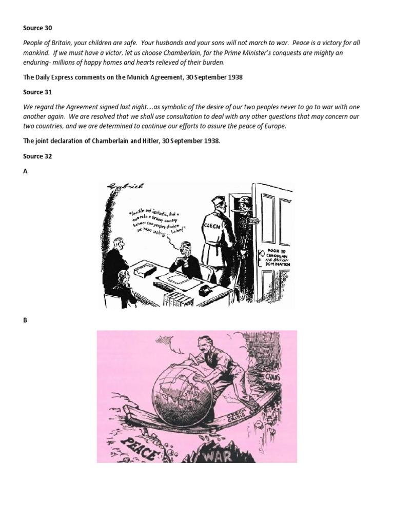 Munich Agreement Neville Chamberlain International Politics