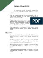 5-Highlights Budget 2013-14 English