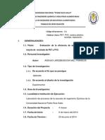 Evaluación de La Eficiencia de Separación de Una Mezcla de Reciclado de PET y PVC