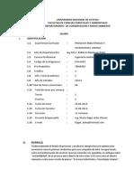 Silabo-procesos Industriales y Tecnologias Limpias -Ciclo 2014-i