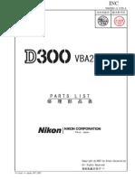 d300 Parts List
