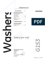 Ge Washer Owners Manual g153
