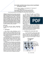 Asociación de La Energía Fotovoltaica, Gas Micro Turbina y Sistema de Almacenamiento a Largo Plazo Corto Para Participar en El Control de Frecuencia