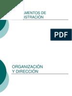Organización y Dirección