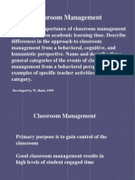 Concepts of Classroom Management