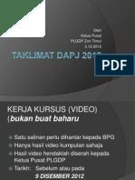 taklimat DAPJ 031212