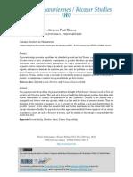 Identidade Pessoal e Ética Em Paul Ricoeur - Da Identidade Narrativa à Promessa e à Responsabilidade. Cláudio Reichert Do Nascimento 2011