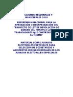 Jurado Electoral Especial 2010 SOLO LEE