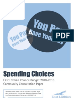 East Lothian Council - Spending Choices 09 Expanded Paper 26 10 v1