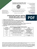 ECWANDC Town Hall Meeting Agenda - May 3, 2014
