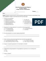 FILI Thesis Questionnaire