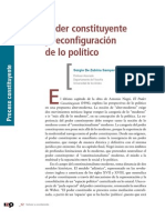 Sergio de Zubiría Samper - Poder Constituyente y Reconfiguración de Lo Político