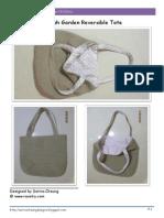 english garden reversible tote bag