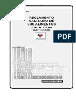 Reglamento Sanitario de Los Alimentos (Junio 2010)