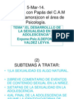 Ildefonso Valdez l.el Desarrollo de La Sexualidad en La Adolescencia