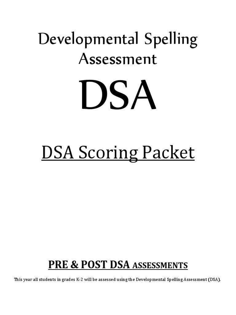 developmental spelling assessment educational assessment inventory